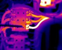 Infrared survey to detect abnormally high temperatures in electrical equipment and systems
