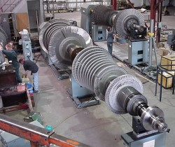 On-site dynamic balancing of large rotating machinery